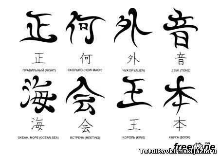Татуировки рисунки иероглифы секс