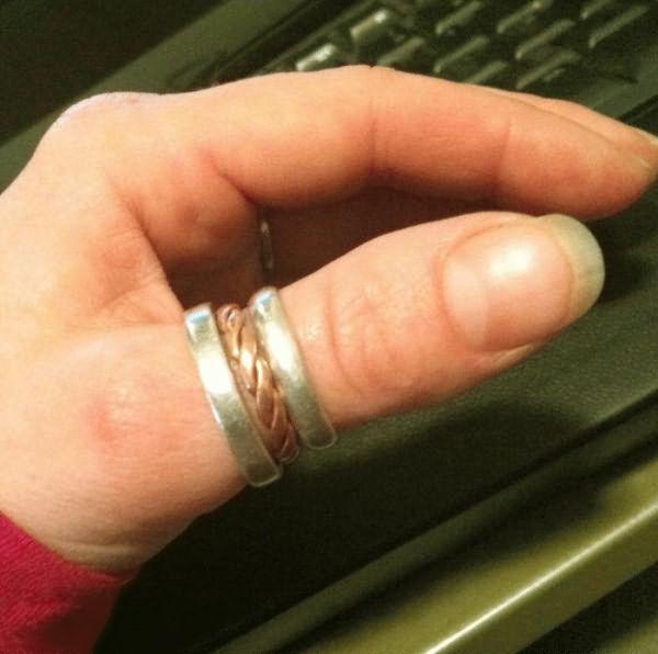 Кольцо на большом пальцем лесби