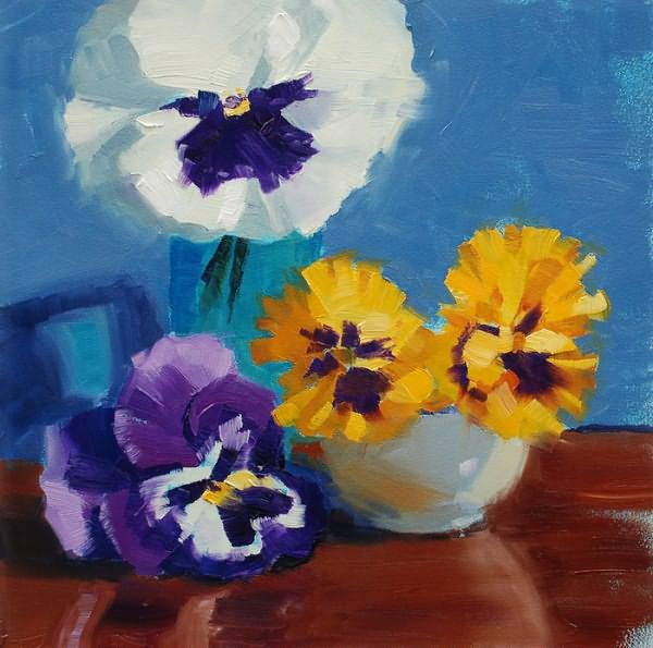 Fred Meyer-Pansies_with_Blue_Background (700x695, 435Kb)